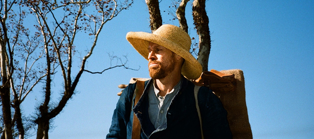 "Movie still of William Dafoe as Vincent van Gogh in ""At Eternity's Gate"""