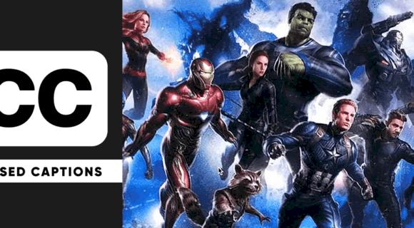 Avengers: Endgame closed captioning