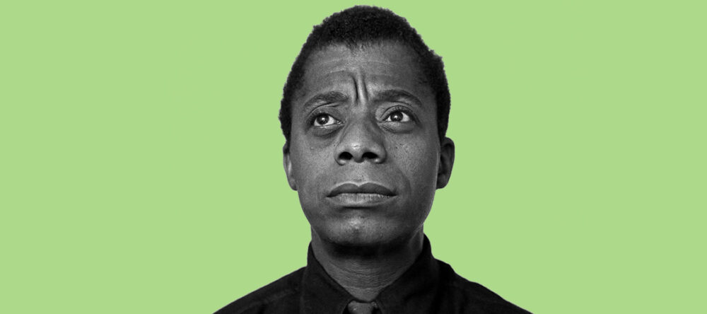 James Baldwin against green